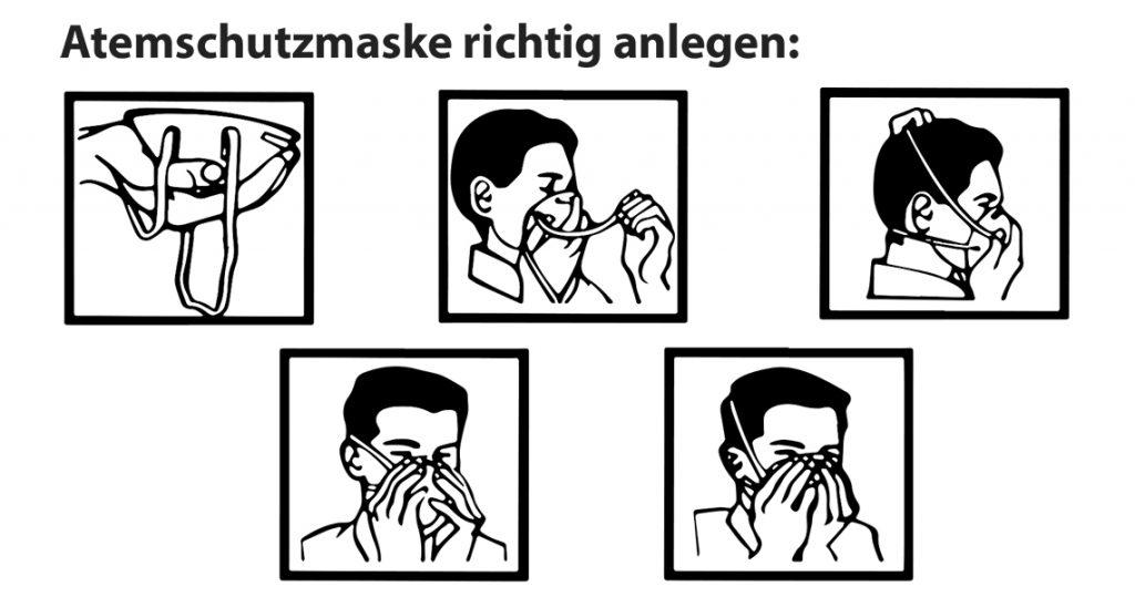 Atemschutzmaske richtig anlegen